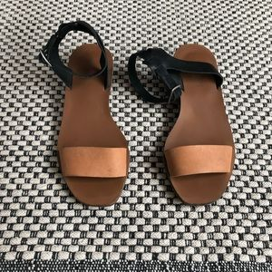Madewell Veronique colorblock leather sandals 8